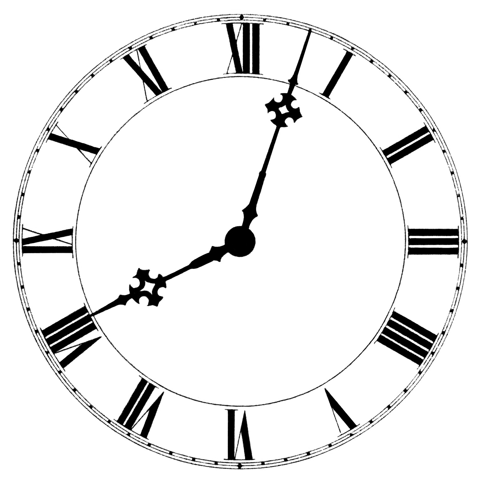 Clock Face Clipart 5.
