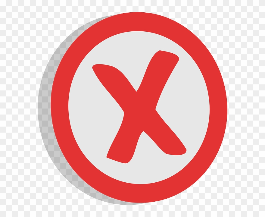 Negative, X, Unrelated, Sign, Choice, Symbol, Red,.