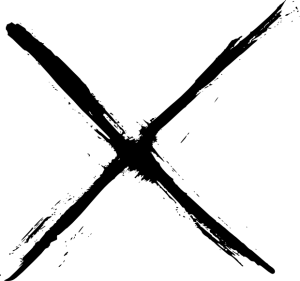 8 Grunge X (PNG Transparent).