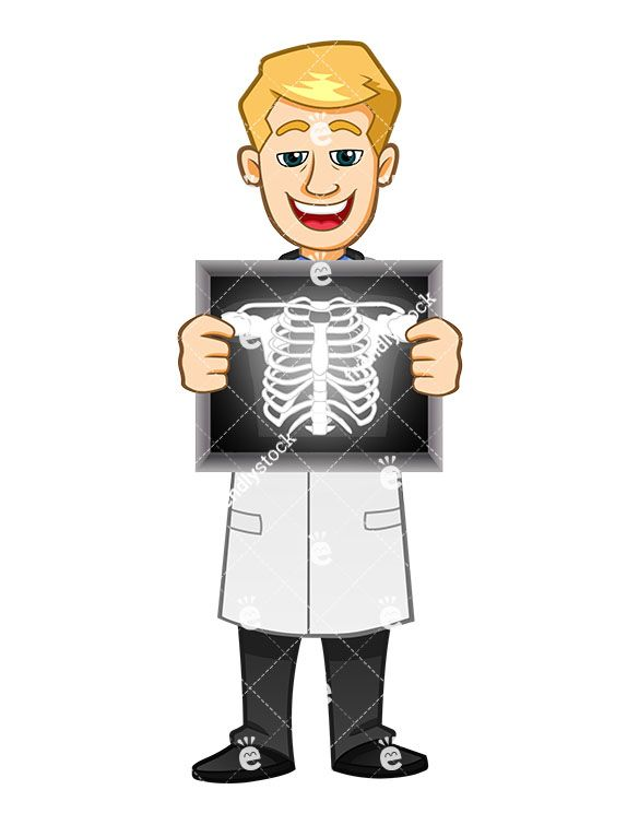 A Radiologist Smiling While Holding A Sternum X.