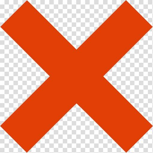 Orange x sign , Computer Icons X mark Red, x mark transparent.