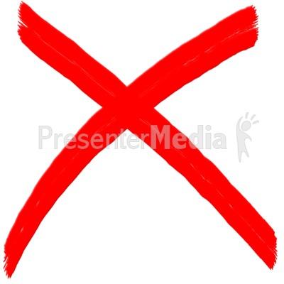 X Mark Painted Symbol.