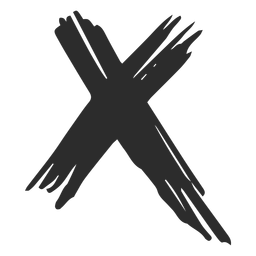 X mark scribble icon.