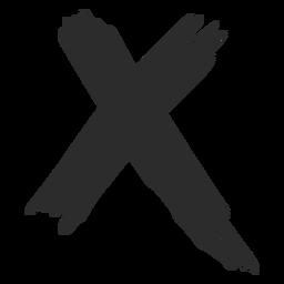 X mark scribble icon.