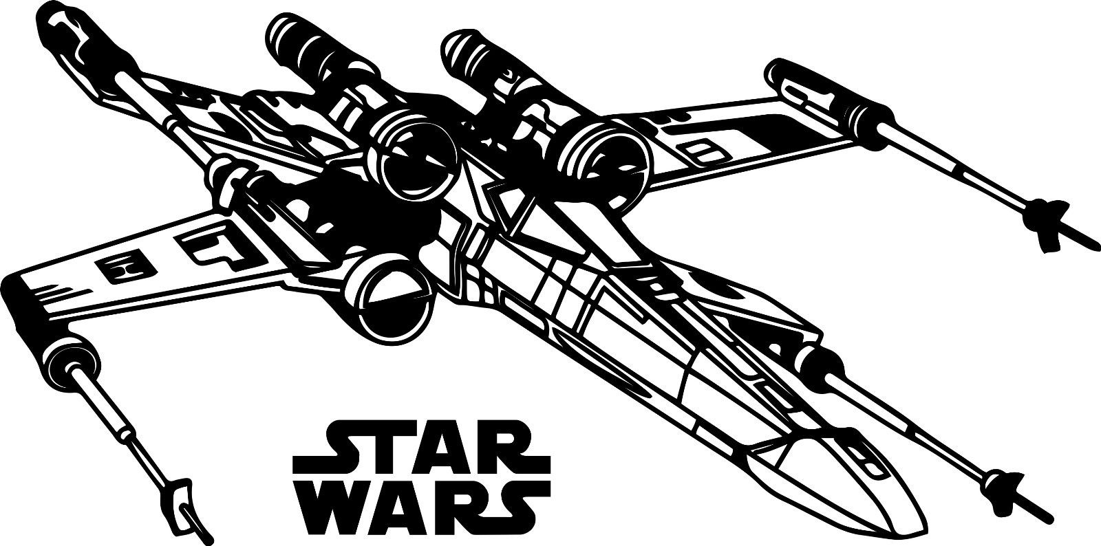 X wing clipart 4 » Clipart Station.