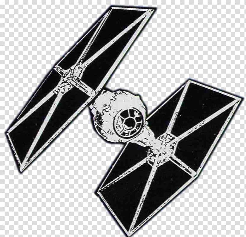 Black and white Tie Fighter illustration, Star Wars: TIE Fighter.