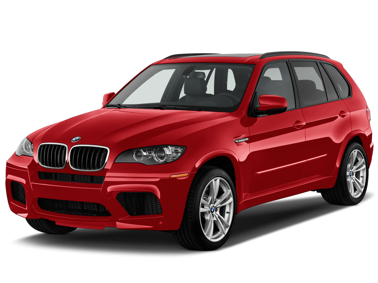 Red Bmw X5 transparent PNG.