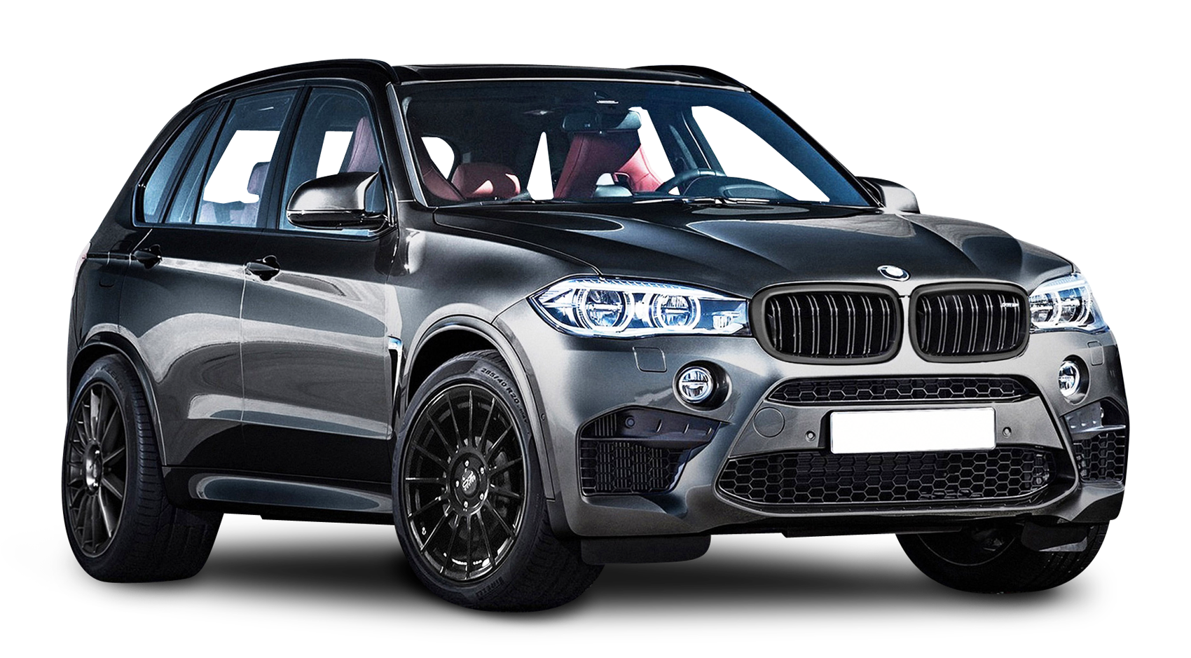 BMW X5 Black Car PNG Image.
