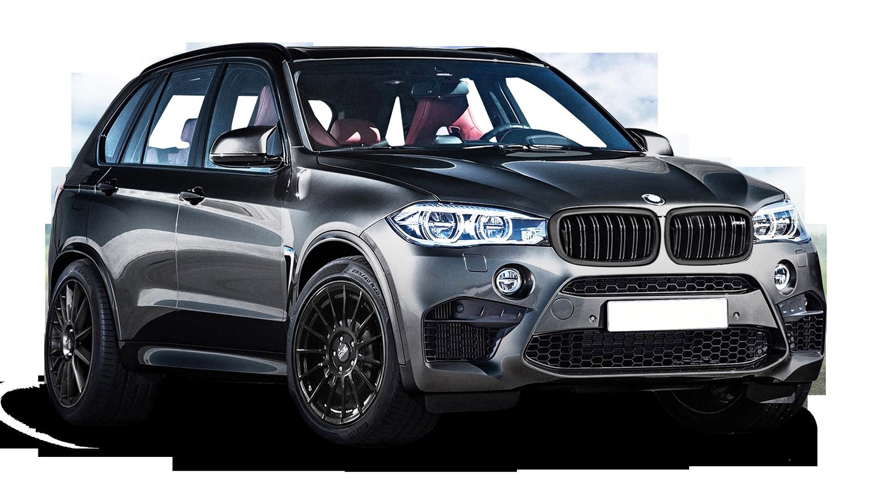 BMW X5 Black Car PNG Image.