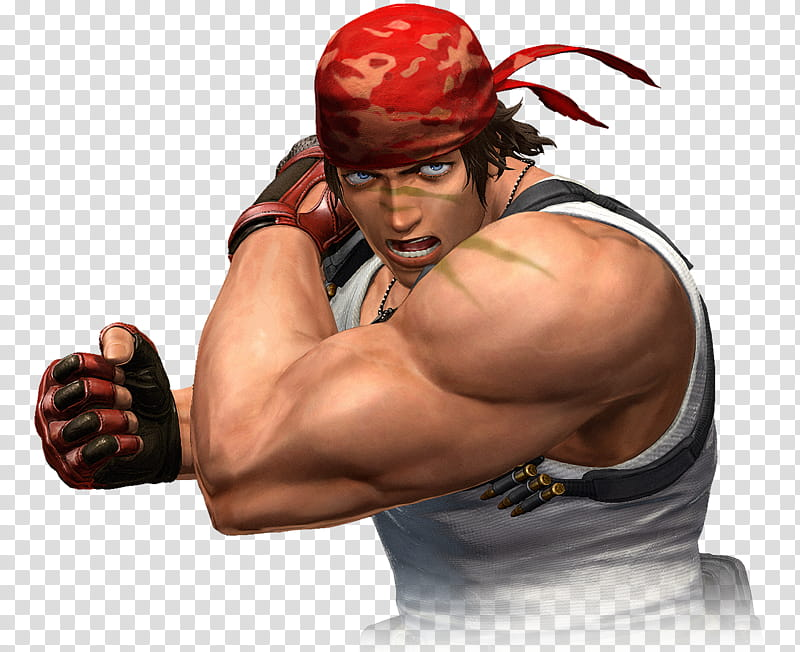 Ralf Jones The King of Fighters XIV transparent background.