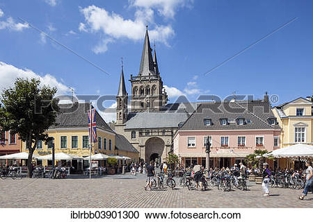 """Stock Photography of """"Xanten Cathedral or St. Victor's Cathedral."""