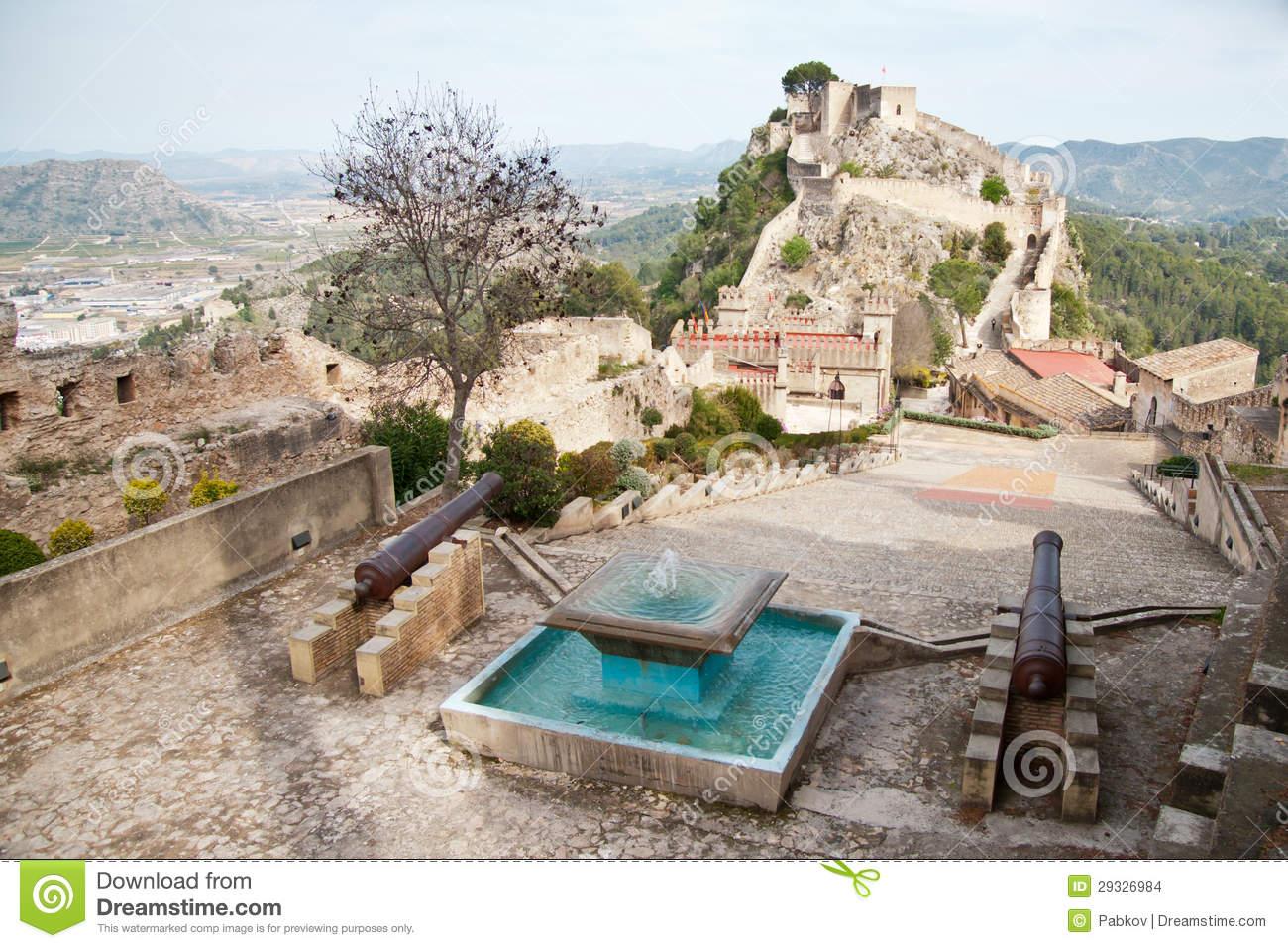 Castle Of Xativa, Valencia Region, Spain. Stock Photo.