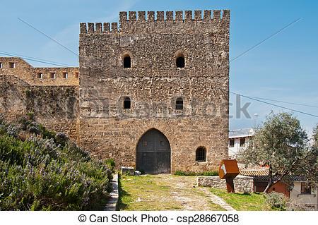 Stock Images of Xativa Castle, Valencia, Spain.