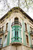 Clipart of balcony in Xativa, Valencia, Spain k16826401.