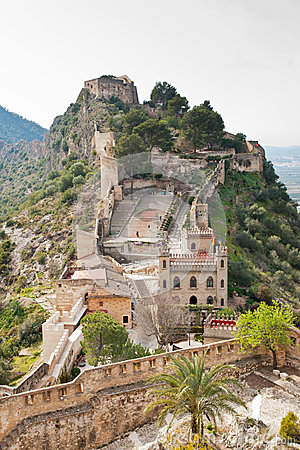 Castle Of Xativa, Valencia Region, Spain. Stock Photo.