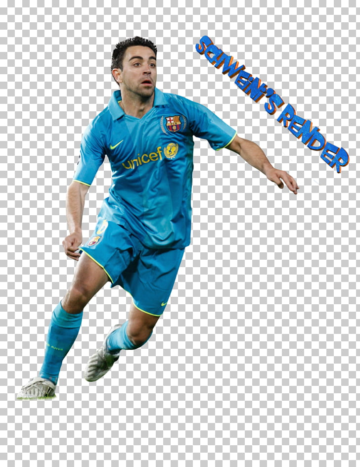 Rendering Football player , Xavi PNG clipart.