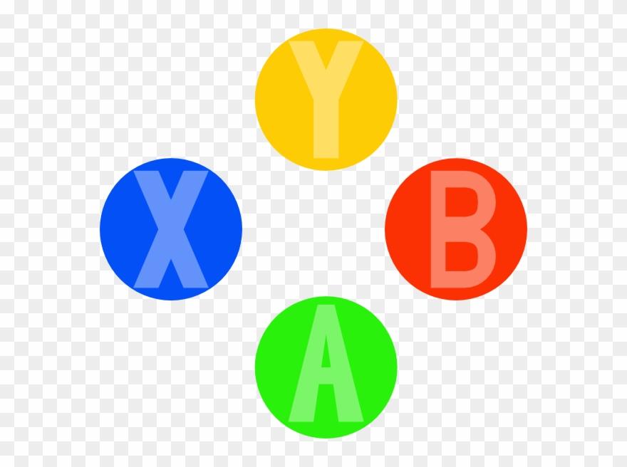 Xbox Controller Light Buttons Clip Art.
