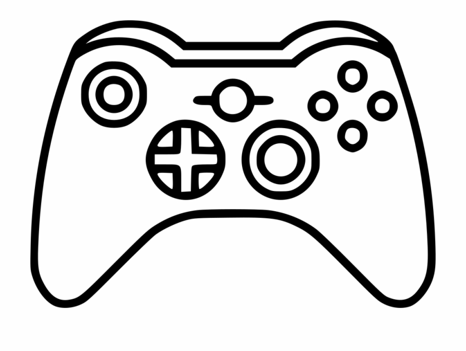 Xbox Clipart Game Icon Game Controller Line Drawings.