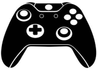 Xbox Controller Clipart Black And White.