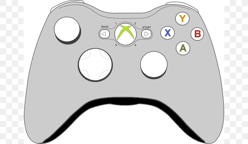 Xbox 360 Controller Xbox One Controller Joystick Clip Art.