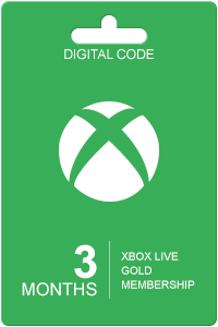 Xbox Live Gold 3 Month Subscription.