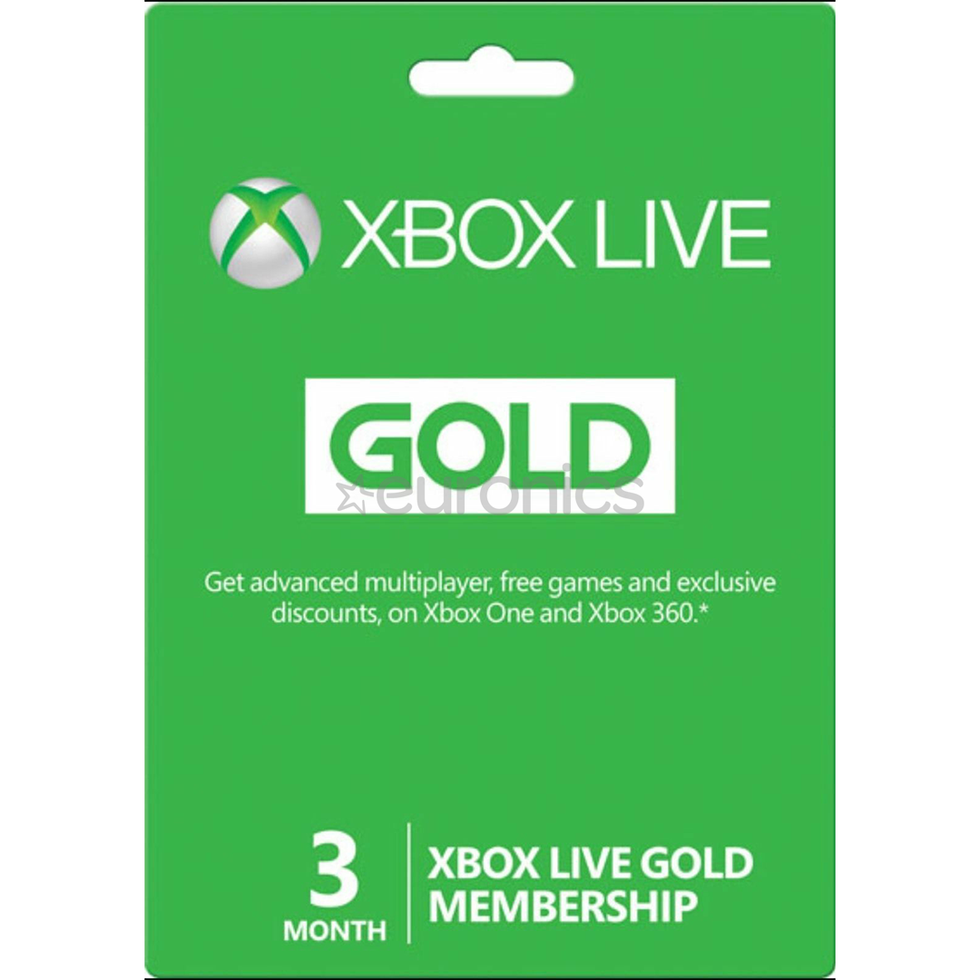 Xbox Live Gold Membership (3 Months).