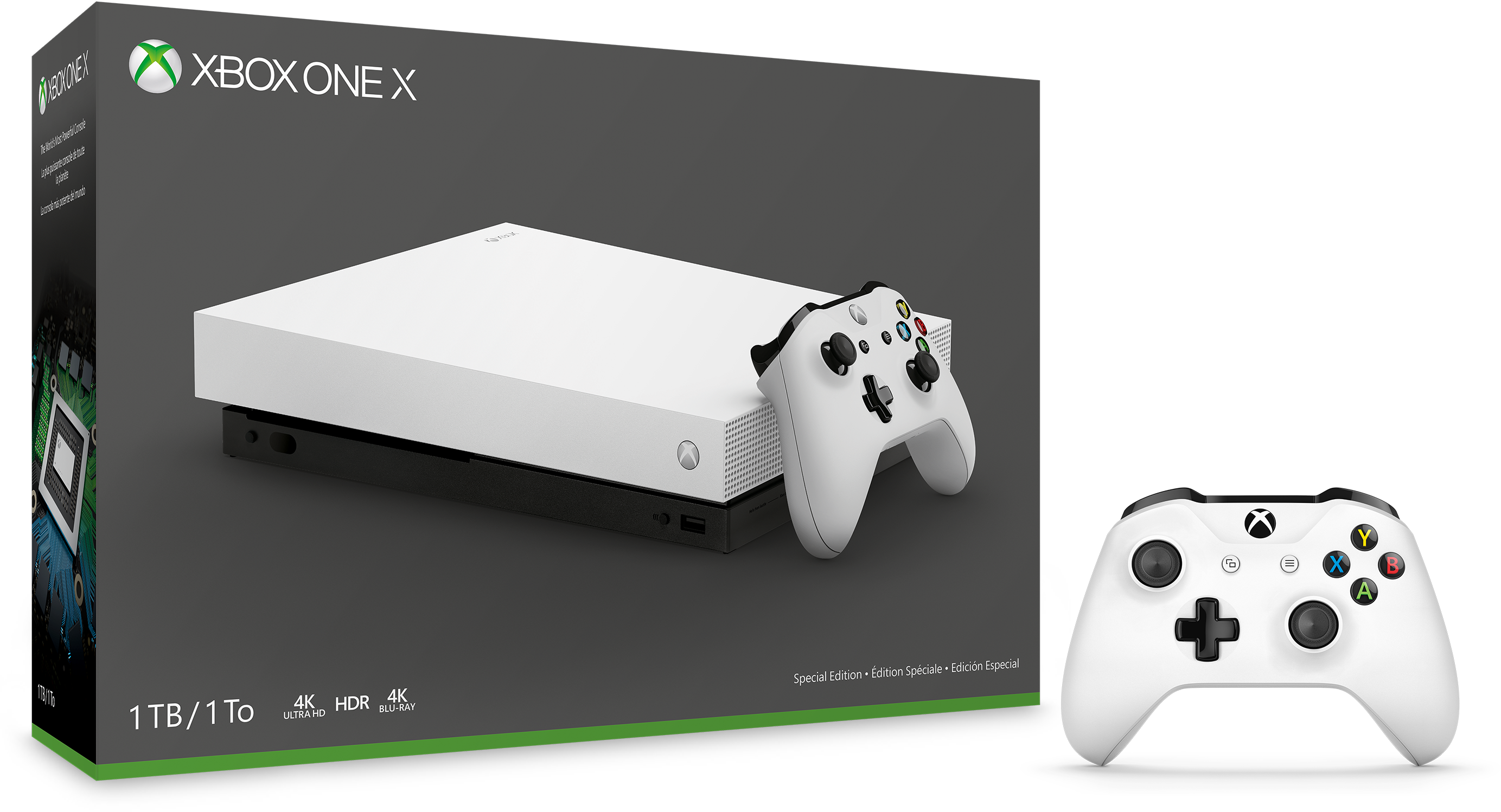 Xbox One X Robot White 1TB Console.