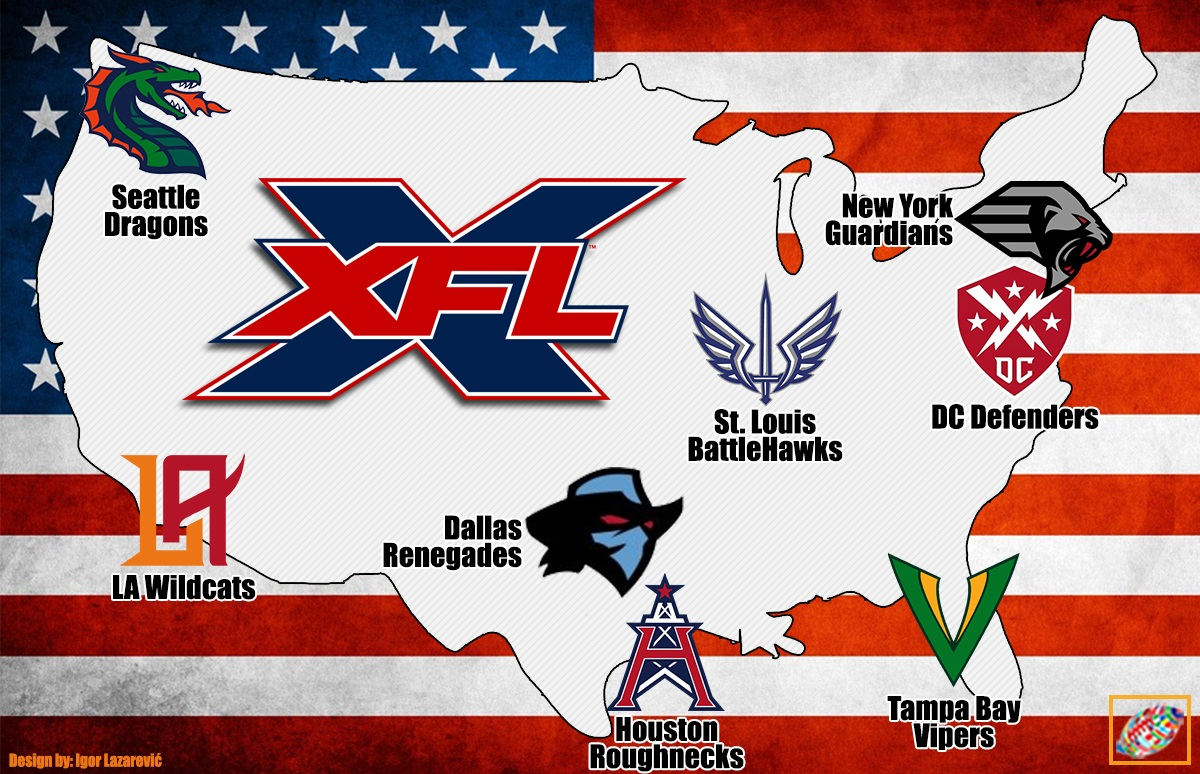 XFL announces team names and logos.