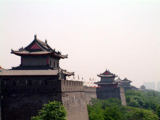 Chinese city wall.