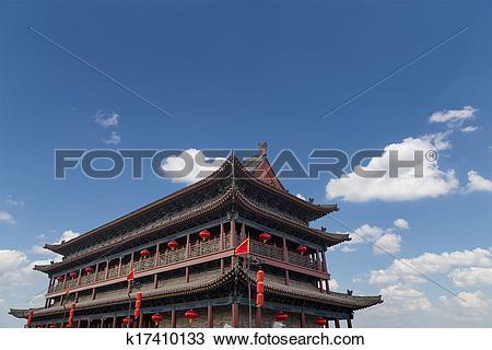Stock Photo of Fortifications of Xian (Sian, Xi'an) an ancient.