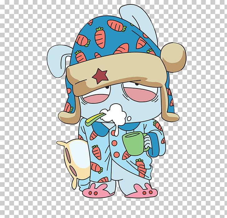 Mascot Rabbit Xiaomi Cartoon, Mi bunny PNG clipart.