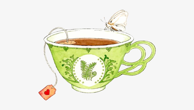 Free Download Watercolor Tea Cup Clipart Teacup Green.
