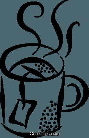 xícara de chá livre de direitos Vetores Clip Art ilustração.