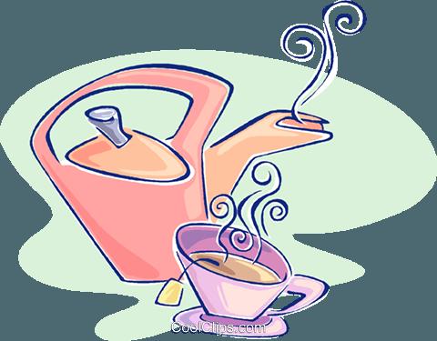 bule com uma xícara de chá livre de direitos Vetores Clip.