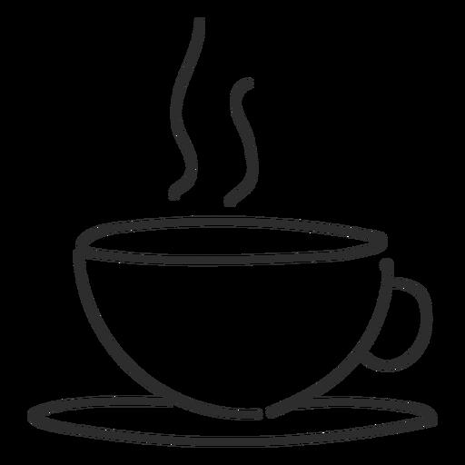 Curso de doodle de vapor de xícara de chá.