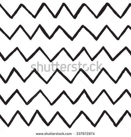 Abstract Hand Drawn Zig Zag Lines Stock Vector 337972874 for.