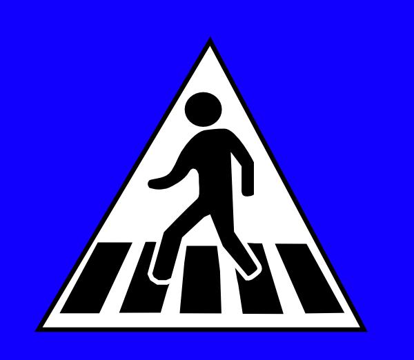 Peds Xing Sign clip art Free Vector / 4Vector.