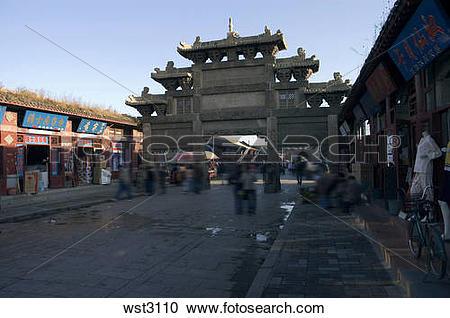 Stock Photography of torii gate,xingcheng,liaoning,china wst3110.