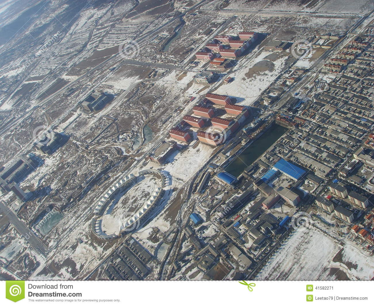 Xingcheng City- University City Stock Photo.