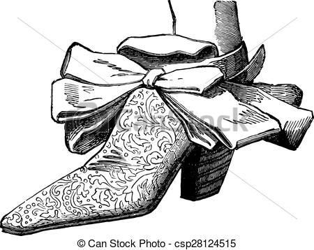 Vector Clip Art of Court shoes under Louis XIV (man), vintage.