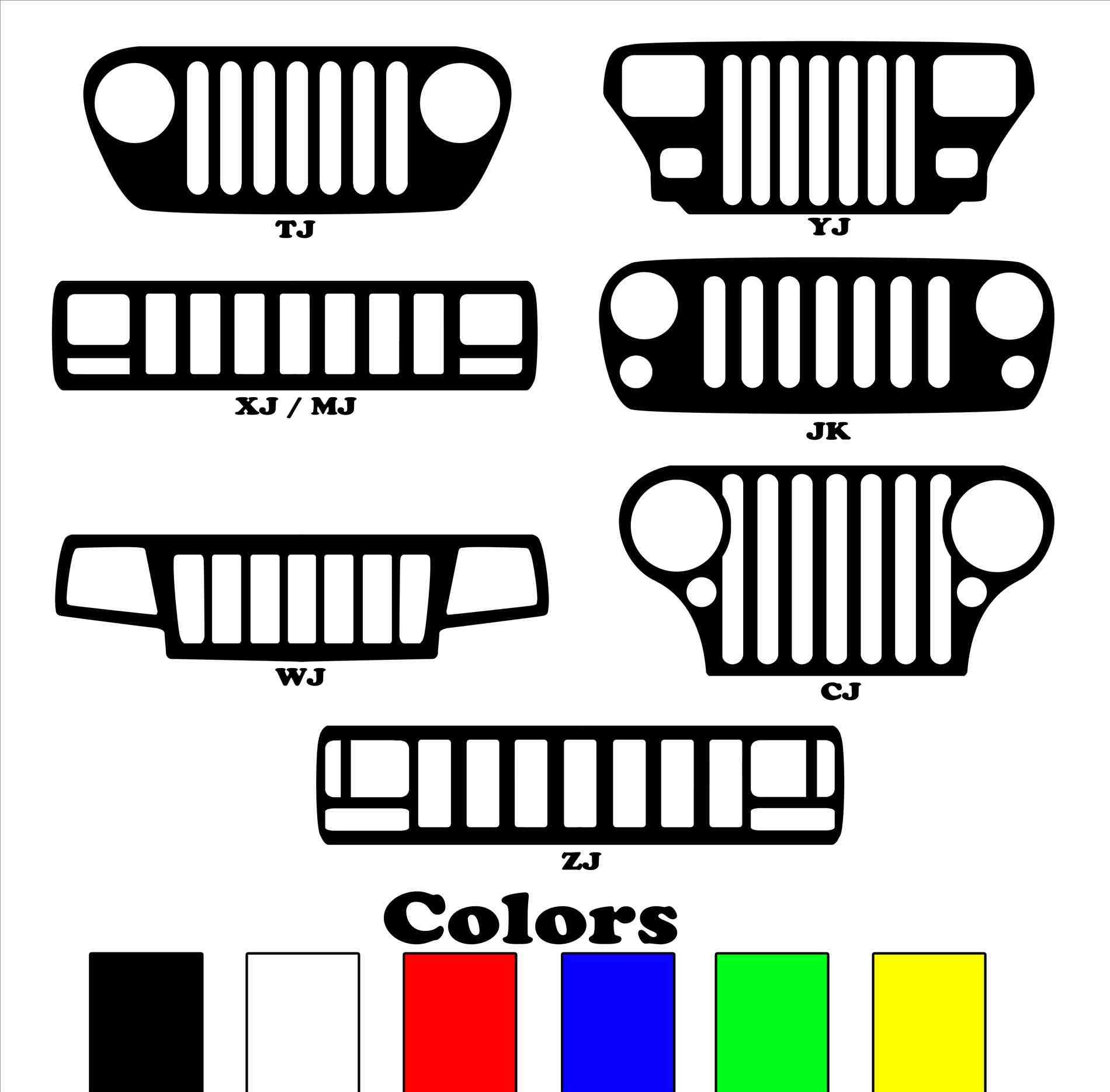 Jeep Grill Vector at GetDrawings.com.