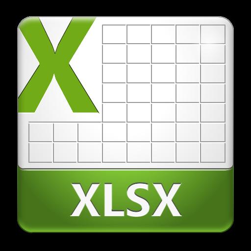 XLSX File Icon.