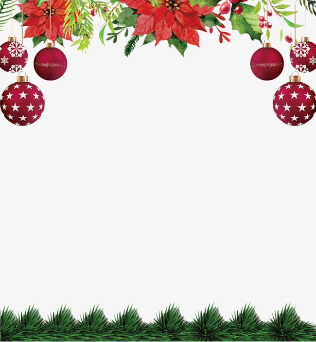 Christmas background elements PNG clipart.
