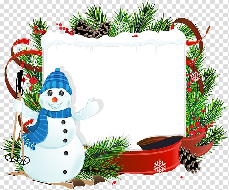 Christmas Snowman , Free Christmas background pull material.