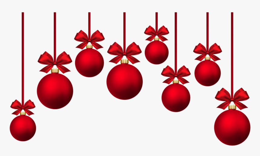 Red Christmas Baubles, HD Png Download , Transparent Png.