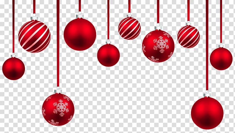 Christmas ornament , Red Christmas Hanging Balls Decor , red.
