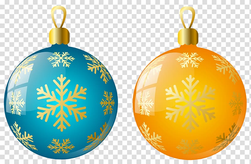 Blue and orange Christmas Baubles, Christmas ornament.