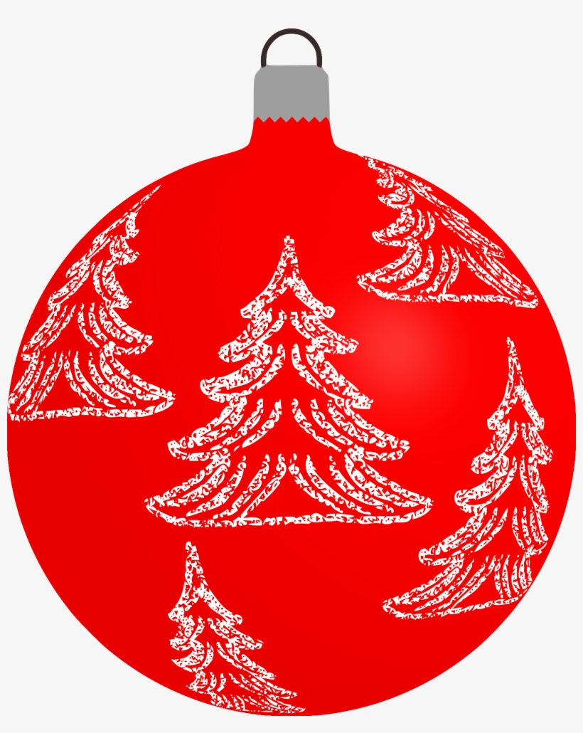 Red Christmas Baubles Clipart PNG Image.