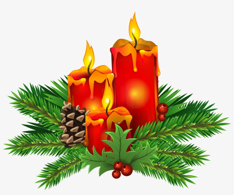 Candles Clipart Xmas.
