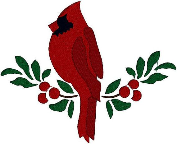 Red Cardinal Christmas Clip Art.